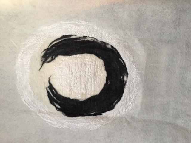 zen doek wit zwart